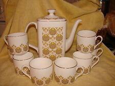 Vtg Royal Doulton Chocolate Coffee Pot 8 Cups Polonaise Bone China England H5017