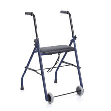 Deambulatore Rollator pieghevole 2 Ruote con seduta disabili e anziani Moretti