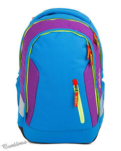Satch BackPack Unisex Children's Satch Sleek Backpack Block Blue 45cm BackPack