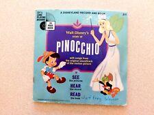 "RARE Disneyland Book and Pinocchio 7"" 33rpm #311"