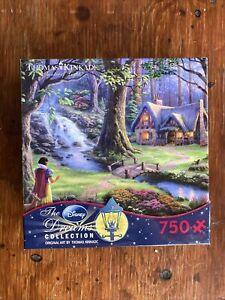 """Thomas Kinkade """"Snow White Discovers the Cottage"""" Disney Puzzle 750 Pieces Ceaco"""
