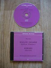 Opera Bites 11: Handel - Giulio Cesare (Julius Caesar) & Xerxes (CD 2004) VGC