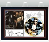 George Michael PHOTO & Faith CD Disc SIGNED Presentation Display Framed #1