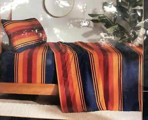 """Pendleton Twin 3-Pc Flannel Sheet Set 100% Cotton 39""""x75"""" Fitted Sheet"""