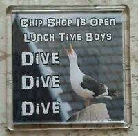 FRIDGE MAGNET Quotes Saying Collector Gift Present Novelty Funny Animals Seagull