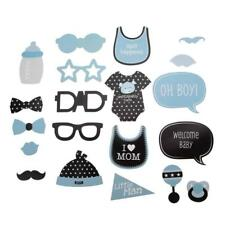 Baby Shower BOY Photo Booth Props 20 Pieces Super Cute