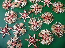 16-er Set Strohsterne, Perlen,rot,Strohstern,Stern,Weihnachtsstern,Perlensterne