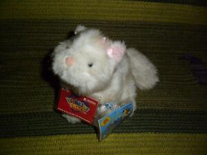 "Lil' Kinz Webkinz white Persian Cat plush toy stuffed animal sealed code 7"""