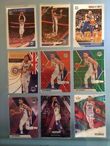 Ben Simmons Basketball Card Lot. Red And Green Mosaic. International Man Of Mast