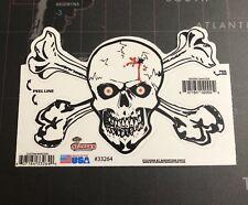 Skull and Crossbones Vinyl Sticker S003S Harley Tattoo Triumph Rockabilly