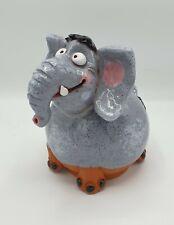 Garten Kugel Keramik Dekoration Figur Elefant Handarbeit