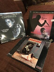Laserdisc Lot of 3 Horror Thriller Movies:Captives, Stepfather,Mirror,New/Sealed