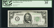 Fr 2105m-A* 1934C BOSTON $50 Federal Reserve Note One of only 3! UNIQUE TREASURE