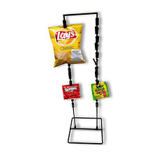 26 Clip Strip Counter Top Wire Display Stand 2 Strand Potato Chip Snack Rack