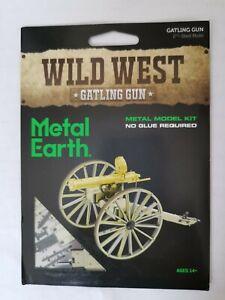 Metal Earth Wild West  Gatling Gun model kit