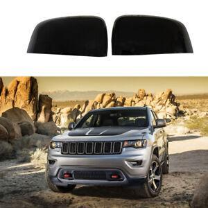 For 2011-2019 Jeep Grand Cherokee Dodge Durango ABS Mirror Cover Gloss Black