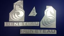 """Beneteau boat Emblems 16"""" + FREE FAST delivery DHL express - Stickers Set - Gra"""