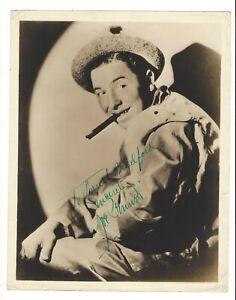 VAUDEVILLE - RADIO - FILM COMEDIAN JOE PENNER (1904-1941) AUTOGRAPH 8 x 10 PHOTO