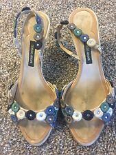 Giorgio Armani Women  Embellished Sandals Shoes Size 36.5