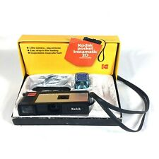 Vintage Kodak Pocket Instamatic 20 Camera Outfit With Box, And GE Magicube Flash