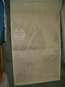 Vintage Admiralty Chart 1674 AUSTRALIA - BRISBANE RIVER 1963 edn
