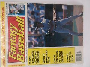 Fantasy Baseball August 1990 DON MATTINGLY Cover