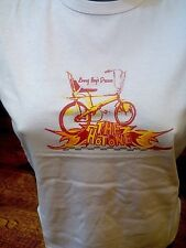 RETRO OLD SCHOOL RALEIGH CHOPPER T SHIRT.WHITE NEW.UK SELLER