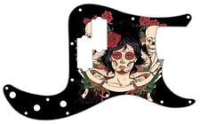 P Bass Precision Pickguard Custom Fender 13 Hole Guitar Pick Guard Skull Posse