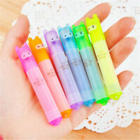 6PCS Kawaii New Highlighter Pen Rabbit Stationery Marker Pens Mini Writing Set
