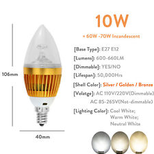 110V LED Candle Light Bulbs 6W 8W 10W E12 E26 E27 Dimmable Candelabra Chandelier