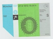 Orig. Ticket Olympic Games Munich 1972 Soccer Germany-Malaysia