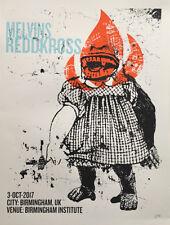 MELVINS / REDD KROSS Birmingham UK 2017 silkscreened poster by Francisco Ramirez