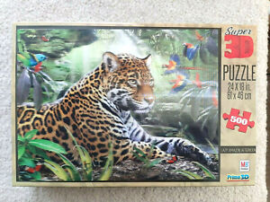 SUPER 3D PUZZLE Lazy Amazon Afternoon Leopard 500 pieces Howard Robinson