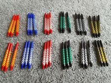 Dart stems shafts Spiral mix colour 12 sets