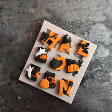 Halloween alphabets Silicone Fondant Mold Cake Decor Tools Chocolate Mould H