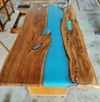 Epoxy Resin Live Edge Blue River Dinning Table Top 35mm thickness (TOP ONLY)