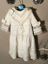 ANTIQUE silk,dress for FRENCH doll 9-10 Jumeau Steiner Bru antique lace