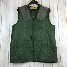 Vintage Barbour 1970's 1 Royal Crest Quilted Shooting Hunting Vest Gilet L / XL