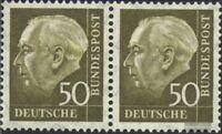 BRD (BR.Deutschland) 261x waagerechtes Paar postfrisch 1958 Heuss