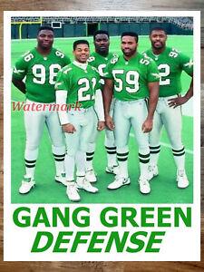 NFL 1990's Gang Green Defense Philadelphia Eagles Color 11 X 14 Photo Poster