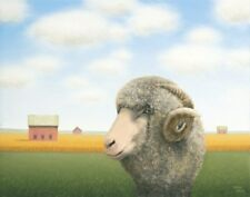Out for a Wander (Ram) Sharon France Art Print 16x12