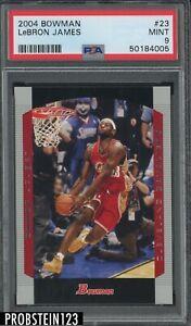 2004 Bowman #23 LeBron James Cleveland Cavaliers PSA 9 MINT