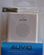 AUVIO 1.5 Watt Portable Bluetooth Speaker Cube - (White) - NEW - Speakerphone