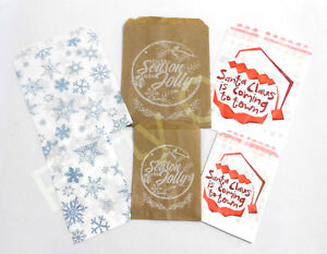 CHRISTMAS PAPER SWEET COUNTER COOKIE BAGS BUFFET PARTY SNOWFLAKE SMALL & MEDIUM