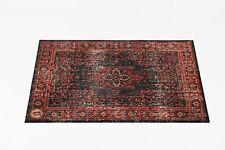 Drum N Base 1.3m X 90cm Mat in Red Black Vintage Persian