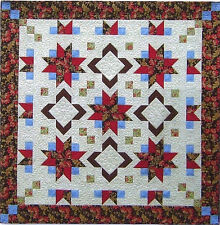 New Pieced Quilt Pattern 86X86 or 72X72 Woodberry Road