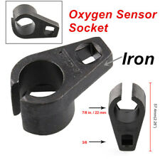 "Universal Black Iron 6 Point Removal Offset O2 Oxygen Sensor Socket 3/8""  7/8"""
