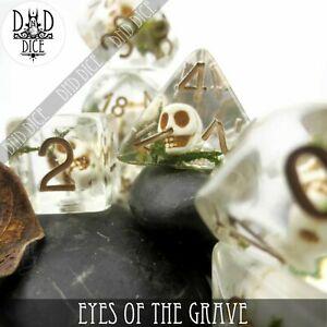 Eyes of the Grave Polyhedral Dice Set | Halloween | Role Playing Dice | DND DICE