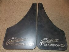 "VINTAGE Chevrolet THE Heartbeat OF AMERICA Mud Flap Pair 7.375"" x 12.75"""