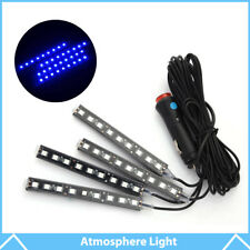 4× 9 LED Blue Ambient Styling Kit For Car Interior Decoration Atmosphere Light